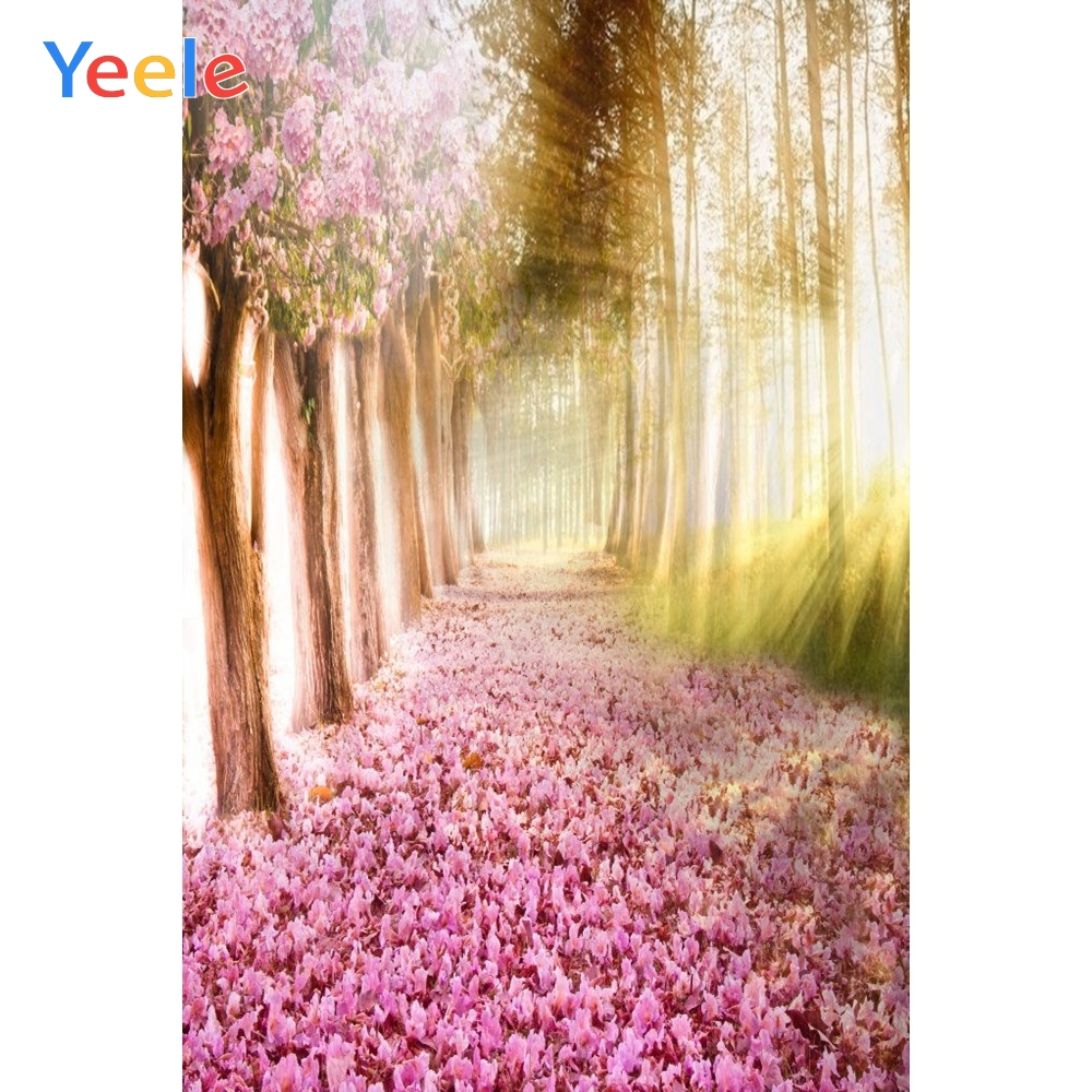 Yeele Alise Princes Wonderland Fallen Flowers Road Photography Backgrounds Personalized Photographic Backdrops For Photo Studio