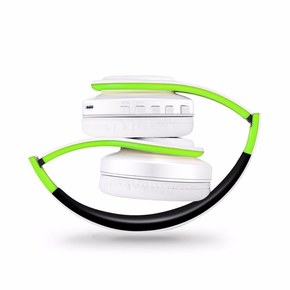 Бесплатная доставка красочный стерео аудио mp3 bluetooth гарнитура беспроводные наушники наушники действия sd карт с микрофоном играть 10 часов