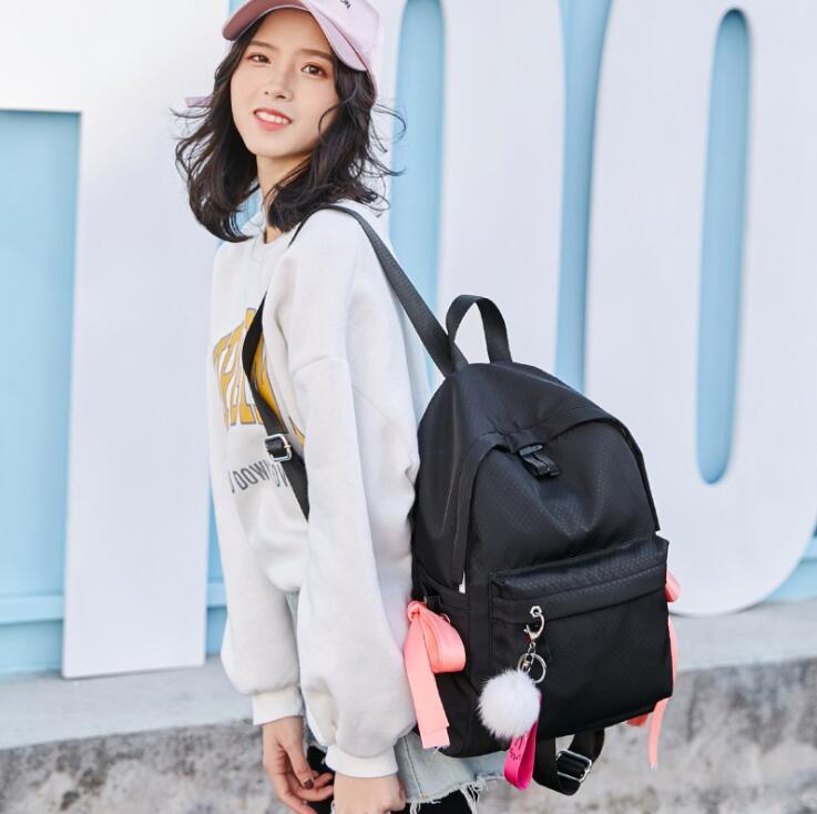 2018 Women Casual nylon Backpack Candy Color Waterproof Backpack School Bags For Teenagers Girls mochila feminina