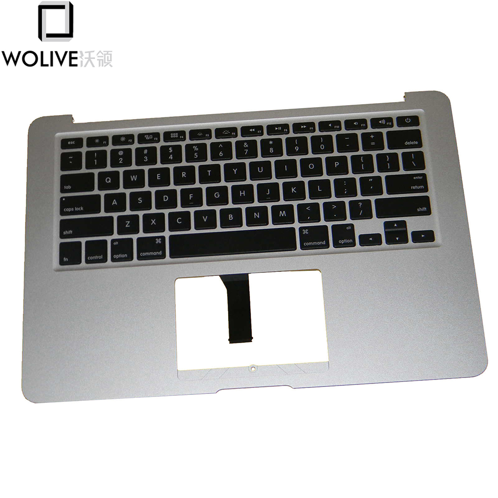 Wolive New Top Case Topcase Palm Rest US Keyboard for MacBook Air 13