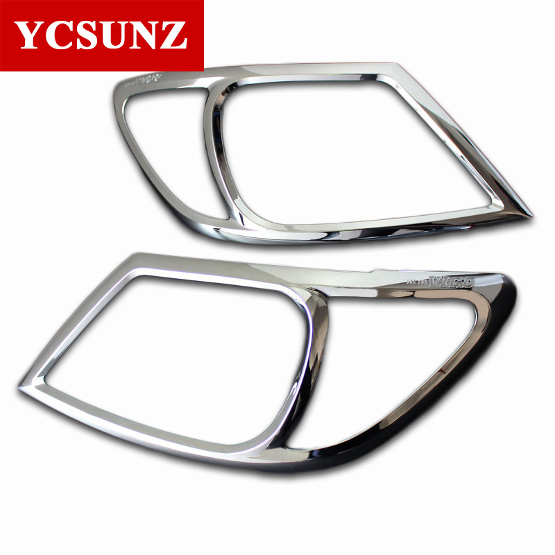 Car styling Chrome Headlamp Cover Strips Trim For Toyota Hilux 2005 2010