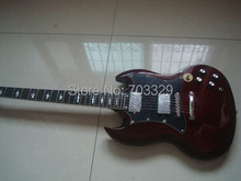 Alta qualidade marrom Angus Young SG guitarra elétrica modelo personalizado frete grátis em estoque enviar em 2 dias