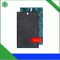 1 conjunto de carvão ativado filtro hepa + filtro formaldeído para sharp KC C150SW KC W380SW W KC Z380SW KI BB60 W purificador ar|filter ir|filter setfilter activated carbon -