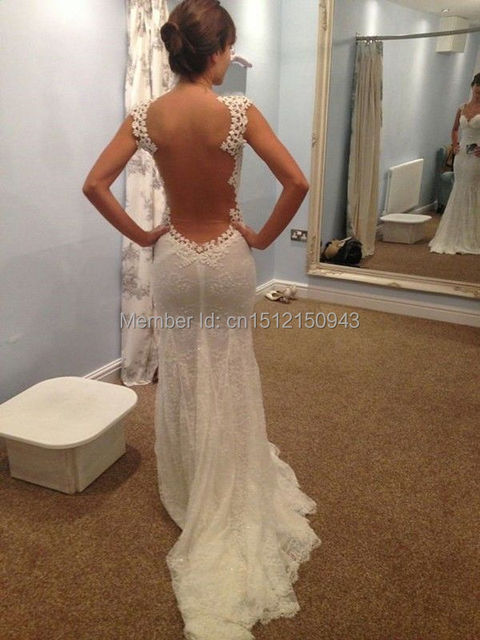 Sexy wedding dresses with low cut back