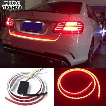 120CM 150CM 335 LED flujo rojo tira de luz para maletero coche señal de giro maletero LED advertencia DRL luz azul hielo luz diurna
