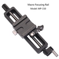 Draagbare Professionele Leofoto MP-150 Camera Accessoires Statief Hoofd Fotografie Macro Fotografie Macro Focusing Rail voor Statief