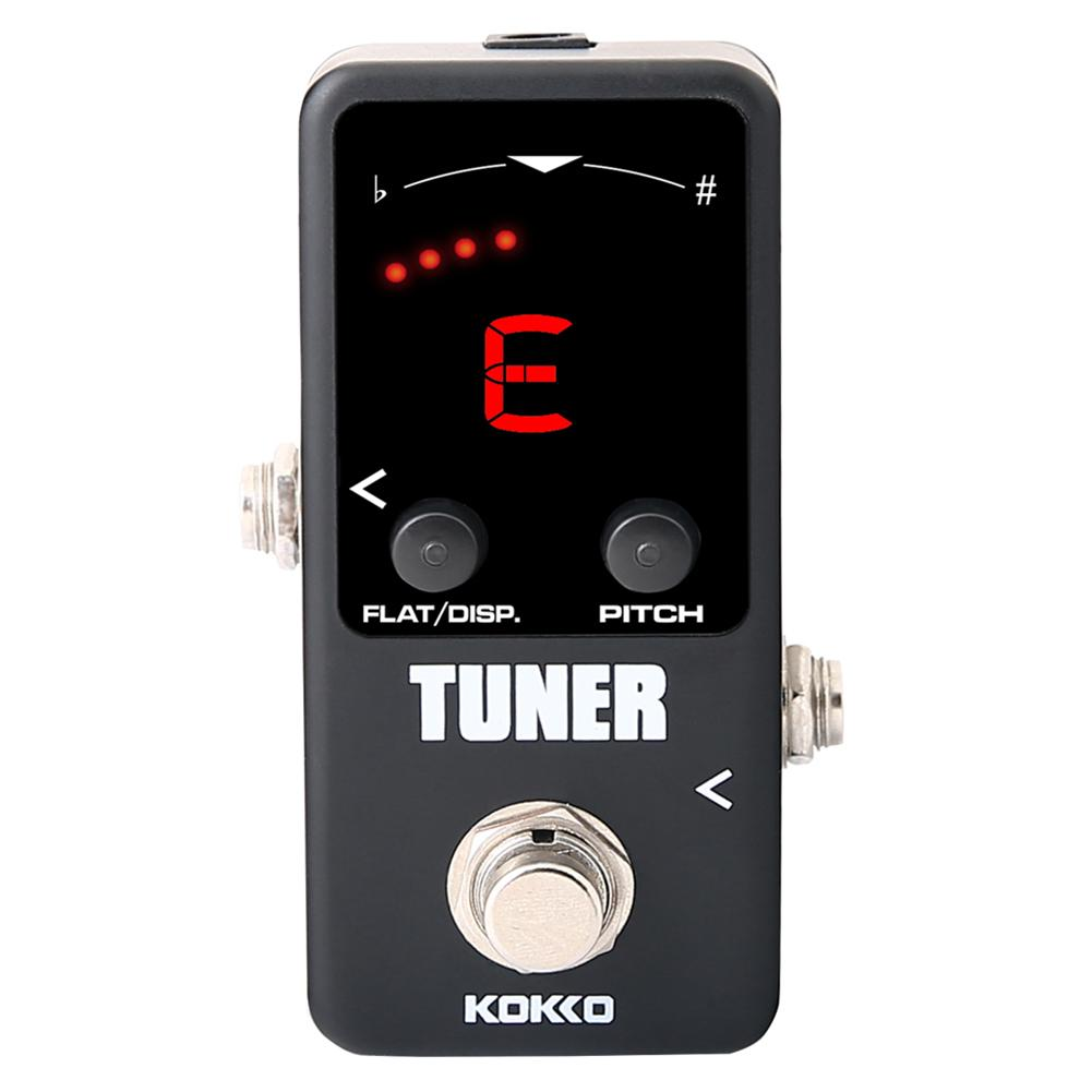 KOKKO Mini TUNER Electric Guitar Pedal LED Display Guitarra Pedal for Bass Guitar Violin Ukulele Instruments mini guitar effect pedal tuner ture bypass kokko ftn 2