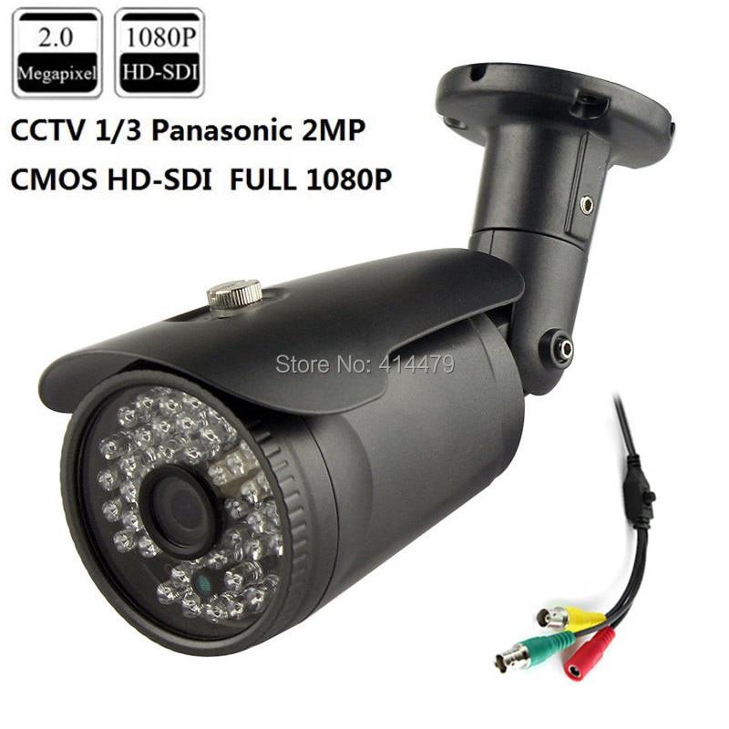 CCTV 2MP CMOS HD Panasonic 1080P Waterproof Outdoor SDI IR Security Camera 3.6mm 3MP Lens 42pcs LED Metal Case hqcam 1080p small sdi camera 1 3 inch progressive scan 2 1 mega pixel panasonic cmos sensor mini sdi camera hd sdi cctv camera