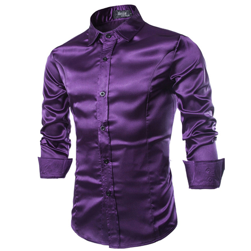 Compare Prices On Mens Purple Silk Dress Shirt Online