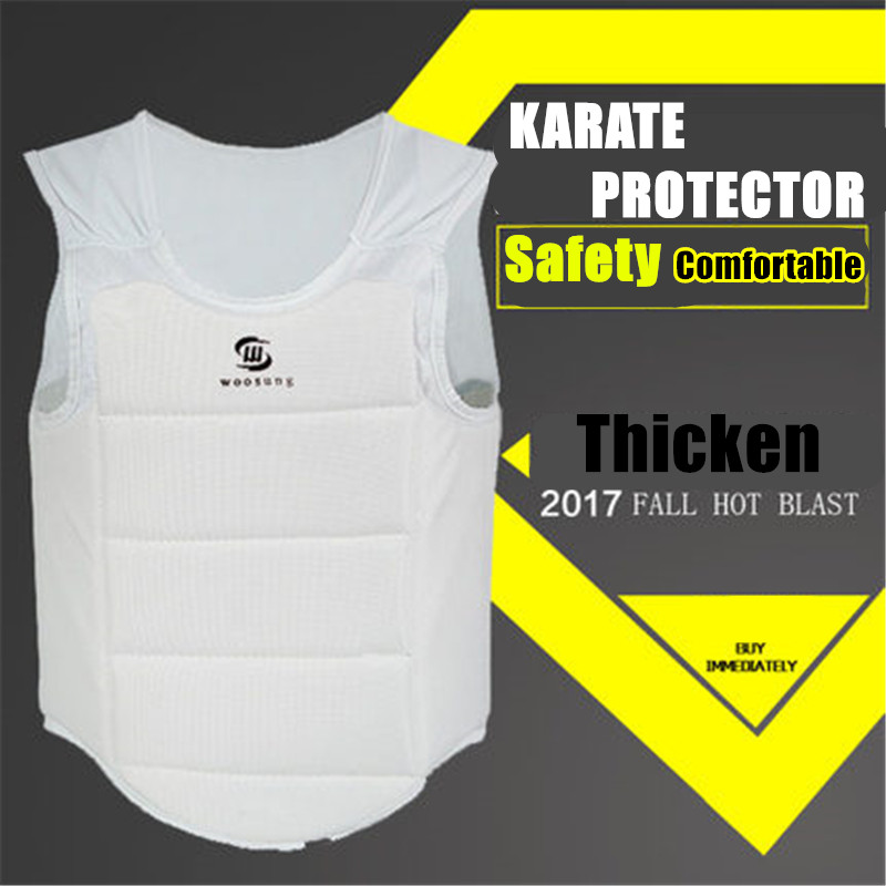 New KARATE chest guard Taekwondo chest Protector Child adult karate MMA kick boxing body hugo training vest sleeveless garment
