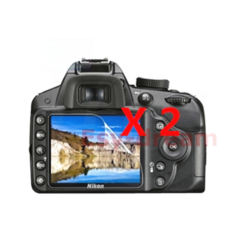 2pcs High Quality LCD Display Screen Film Protector For Nikon D3100 D3200 D3300 D3400 D3500 DSLR Camear Soft