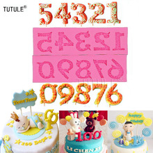 Gadgets-Arabic numerals Number candy mold-Soap Fondant Flexible Silicone Candle Cake Chocolate mould lollipop molds