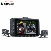 DV168 1080P Dash Cam 2.7 inch 130 degree Dual Camera Motorcycle Driving Video Recorder with Front and Rear View Camera