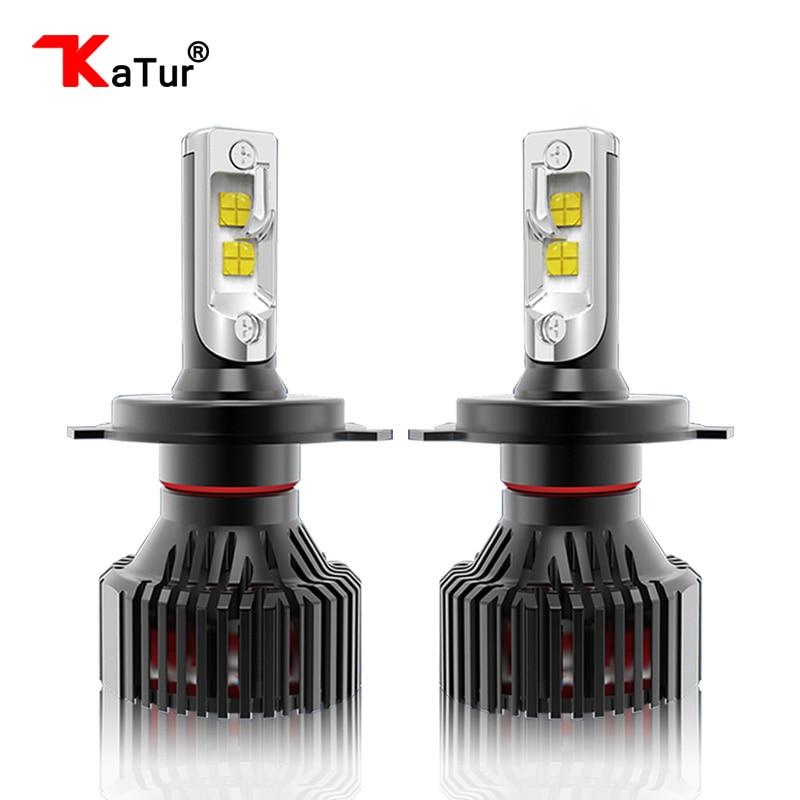 Katur 2018 Headlight Blubs H7 H4 LED H8 H11 HB3 9005 HB4 9006 9012 H13 9004