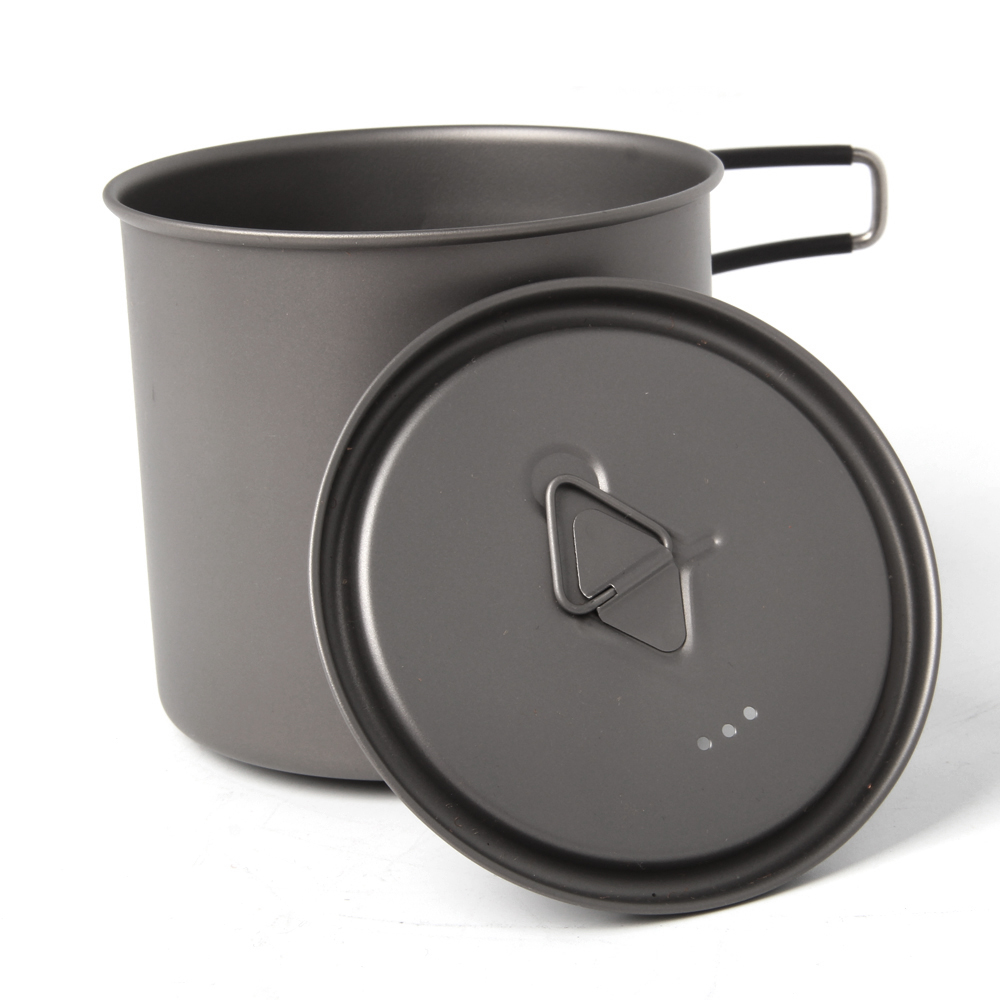 New One TOAKS 600ml Ultralight Titanium Pot Outdoor Camping Titanium Bowl Titanium Cup