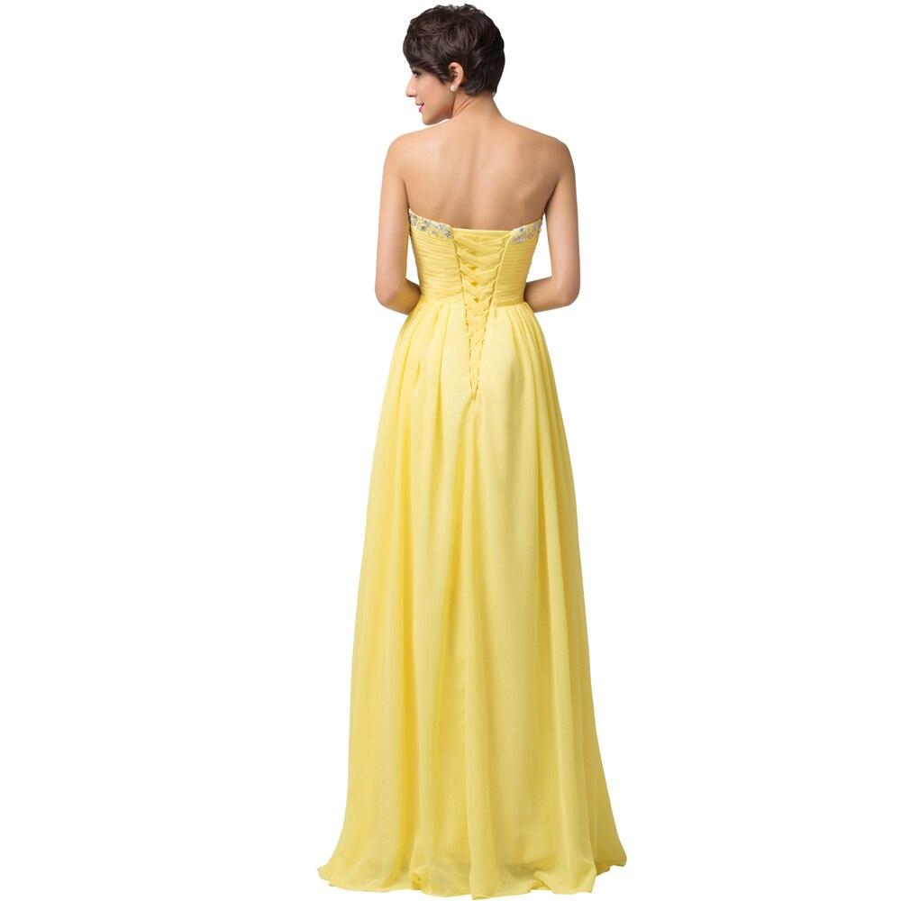 Schatz Gelb Lange Brautjungfer Kleider Für Besondere Anlässe Kleid ...