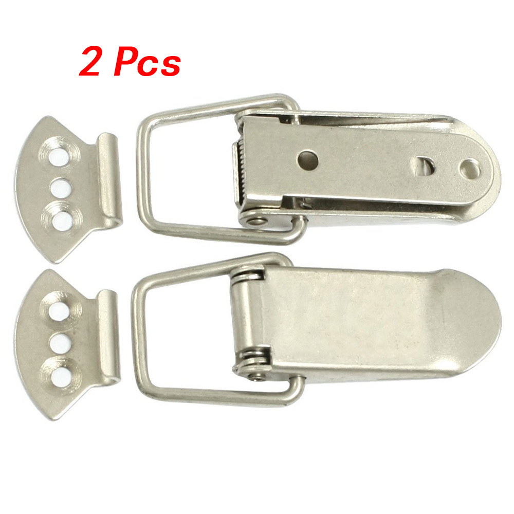 EWS-SODIAL(R) 2 Pcs Steel Spring Toggle Draw Latch Catch for Cases Boxes Chests