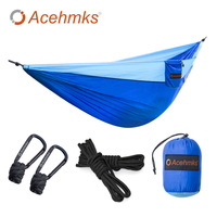 Acehmks 2 Person Hammock With Strong PolyesterTree Ropes And Carabiners Easy To Set Up For Outdoor