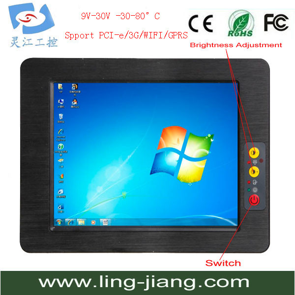 Touch PC Industrual PC 17 Inch Panel Pc Mother Board 2G Memory Lcd Tft