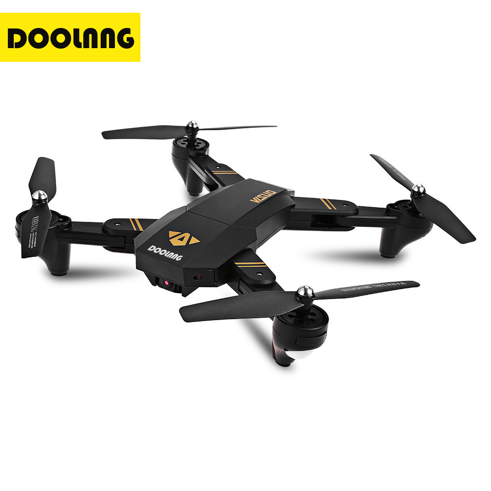 DOOLNNG RC Drones XS809W XS809HW Foldable Quadcopter Mini Drone With Camera Altitude Hold RC Helicopter WiFi FPV Dron With 5 BET jjr c jjrc h39wh wifi fpv with 720p camera high hold foldable arm app rc drones fpv quadcopter helicopter toy rtf vs h37 h31