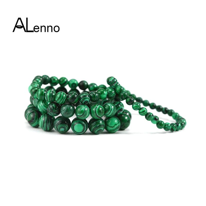 6mm/8mm/10mm/12mm Azurite Malachite Bead Strand Charm Yogo Bracelets For Women Men Round Free Shipping Jewelry Gifts