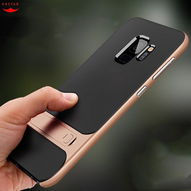 For Samsung Galaxy S9 S9 Plus Case Hybrid Heavy Duty Armor Kickstand Cases Silicon Full Coverage For Samsung S9 Plus Cover Funda