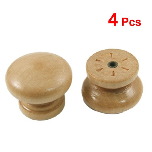 New Style 4 pcs CabInet Drawer 1.3 Diameter Round Wooden Pull Knobs Handles entrance door handle solid wood pull handles pa 377 l300mm for entry front wooden doors