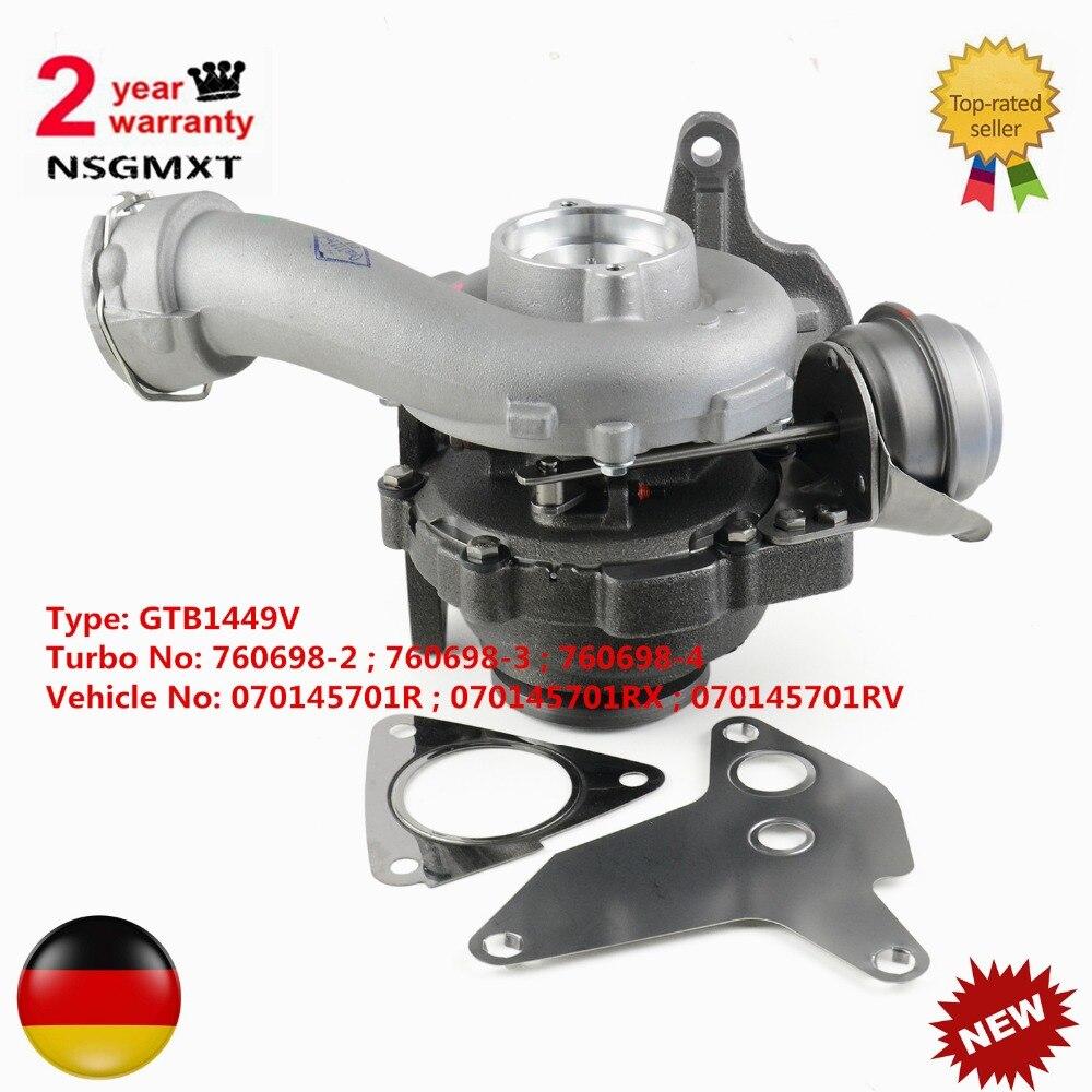 AP01 New Turbocharger For VW Multivan T5 Transporter Caravelle 2.5TDI 130hp BNZ BDZ 070145701R 760698 Type: GTB1449V