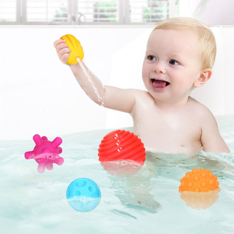 New Bath Toys Soft Ball Baby Toys In The Bathroom For Children Kids Christmas Educational Gifts Water Toy Bathing Ball