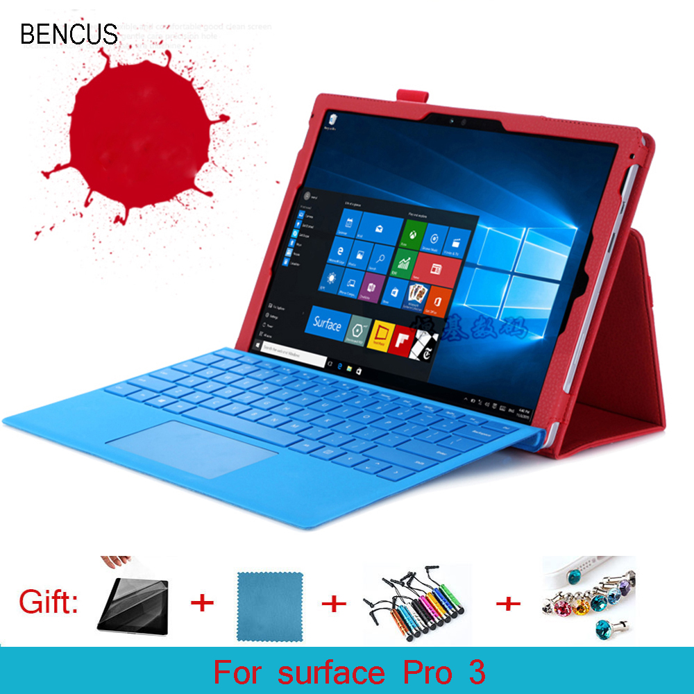 BENCUS For Surface Pro3 case, new leather case cover for Microsoft Surface Pro 3 case +Pen