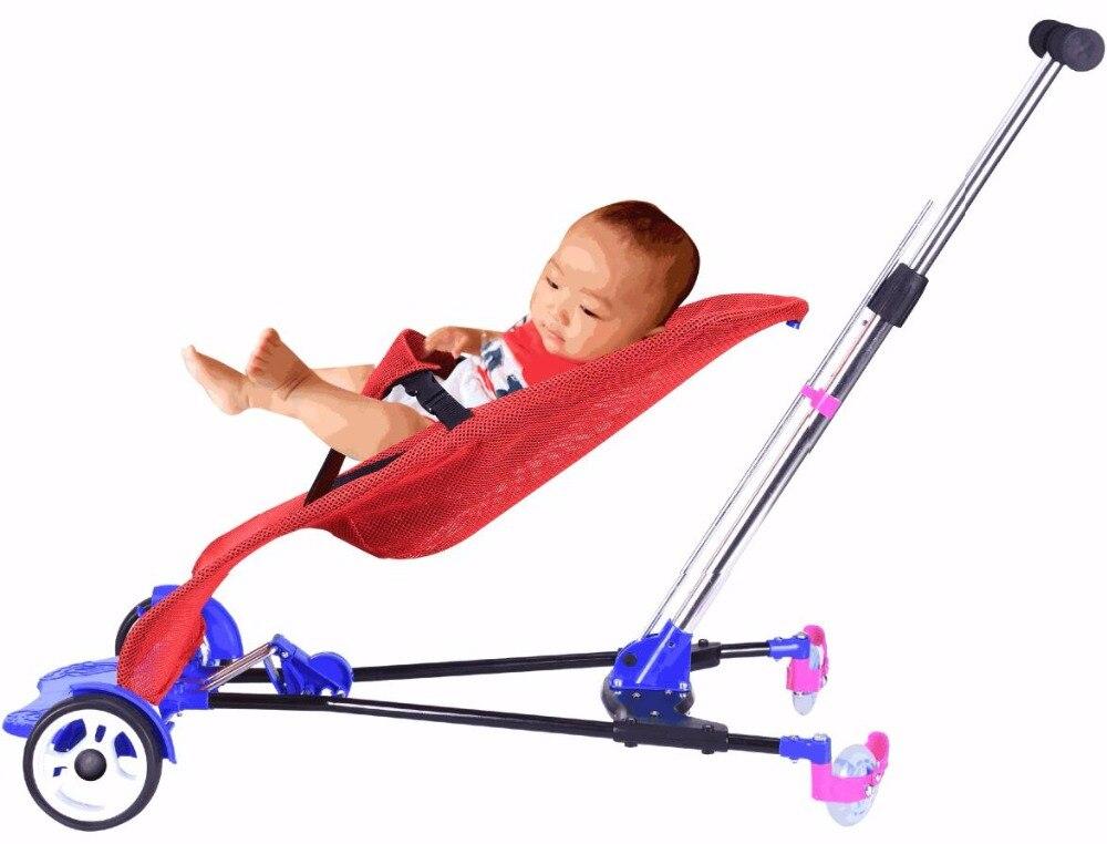 3 en 1 chaise berçante berceau de couchage alimentation bébé poussette