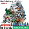 В наличии 18032 Модель Строительный комплект блоки кирпичи, совместимые с lego Miniecraft 21137 2932 шт. набор горных пещер детские игрушки