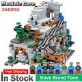 En Stock 18032 modelo de construcción de bloques de ladrillos compatible con lego Miniecraft 21137, 2932 piezas cueva de montaña conjunto chico Juguetes