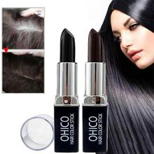 HobbyLane Creative Lipstick Shape Hair Color One-Time Hair dye Instant Gray Root Coverage Hair Color Modify Cream Stick Dye
