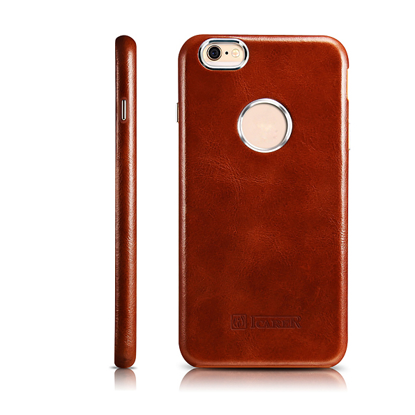 ICARER Business Style Retro Genuino Real Leather Logo Full Cover - Accesorios y repuestos para celulares - foto 2