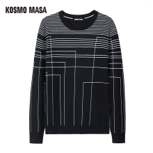 KOSMO MASA Autumn Winter O-Neck Pullovers Christmas Sweater For Men Cotton Standard