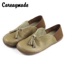 Careaymade-Hotsales,2018 spring and autumn grandma's shoes,cow skin women's flat shoes, hand-made genuine leather casual shoes.