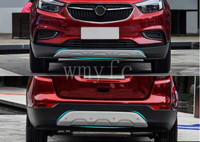 stainless steel Front+Rear Bumpers Car Accessories Bumper Guard board 2pcs fit for Opel Mokka 2013 2014 2015 2016 2017