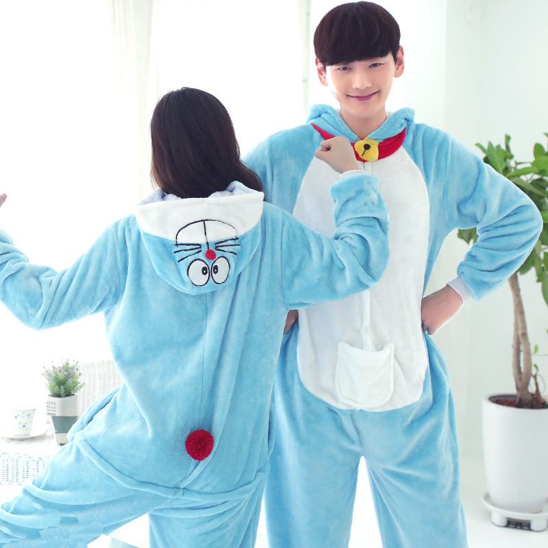 Anime Pijama Cartoon Adult Unisex Doraemon Pajamas Cosplay Costume Animal Onesie Sleepwear Animal pajamas