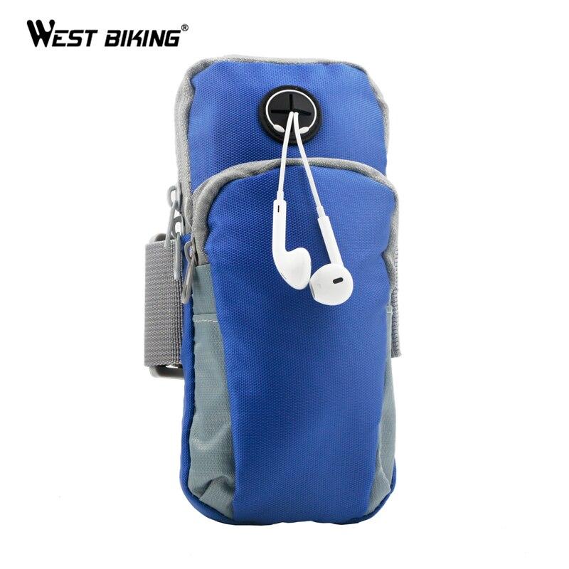 WEST BIKING Listen Music Phone Bicycle Bag Sport Running Bags Outdoor Equipment Arm Bag Hiking Camping Climbing Cycling Bags