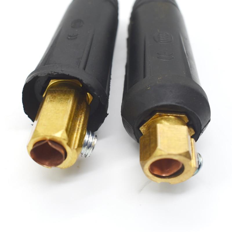 10-25mm European Electric Welding Machine Rapid Connectors Fitting Cable Connector-Plug 200Amp DKJ10-252 2pcs  Per Sets
