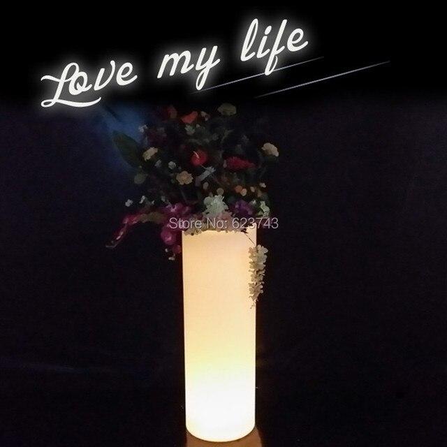 moderne plastic oplaadbare i pot led decoratieve tuin bloempot afstandsbediening verlichte led tango ijsemmer koeler