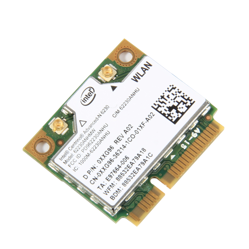 Dual Band 300Mbps For Intel 62230ANHMW Advanced-N 6230 2.4G 5GHZ WiFi+BT3.0 Combo Half Mini PCI-e Bluetooth Wireless Card
