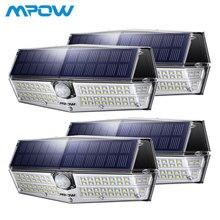 4 шт MPOW 66 светодиодный движения Сенсор Солнечный свет 3 режима освещения Мощный IP66 Водонепроницаемый яркие настенные светильники лампе Solaire Exterieur