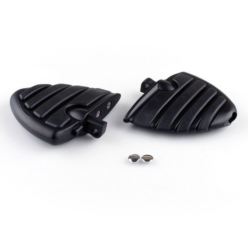 Motorcycle Wing Foot Pegs Rests For Harley Davidson Dyna Male Peg Mount Chrome Black