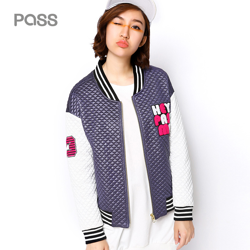 PASS 2017 Autumn New Fashion Printing Stand Neck Coats Baseball Loose Casual Sportwear Tops