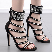 HEE GRAND Summer Peep Toe Shoes Ankle Strap High Heels Luxurious Dress Shoes Rhinestone Sandals Women Wedding Shoes XWZ5730 summer new sandals chunky heel floral silver wedding dress shoes rhinestone luxurious genuine leather prom party high heels
