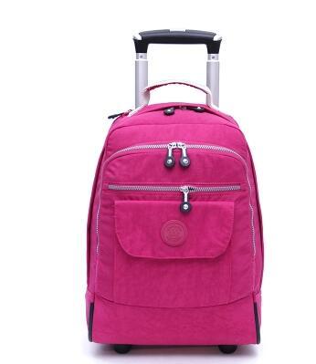 Mochilas con ruedas de 18 pulgadas para ordenador portátil mochila de viaje impermeable mochila de gran capacidad para hombres bolsas de equipaje bolsas de transporte-in Bolsas de viaje from Maletas y bolsas    1