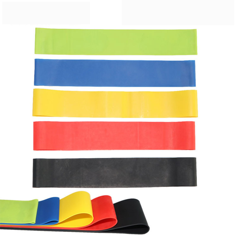 Painstaking 5 Colors Yoga Resistance Bands 0.35mmm-1mm Rubber Belt Loop Elastic Outdoor Fitness Bands Indoor Outdoor Sport Training Workout Fitness Equipments Sports & Entertainment