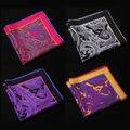 Ng Paisley Floral pañuelo 100% de satén de seda Natural para hombre del pañuelo de moda banquete de boda Classic Pocket Square